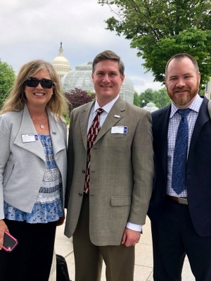 Kimberly Legg-Corba, M.D., D4PCF President Lee Gross, and Josh Umbehr, M.D. brief policy makers at the Department of Health and Human Services on Direct Primary Care.